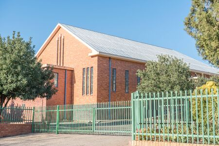 northern african: The hall of the Dutch Reformed Church in Hopetown, a small town on the banks of the Gariep River Orange River in the Northern Cape Province of South Africa Stock Photo