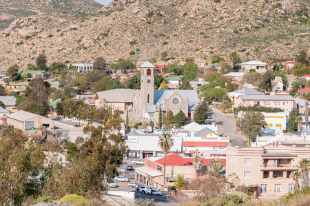 northern cape: SPRINGBOK, SOUTH AFRICA - AUGUST 17, 2015: View of Springbok, the largest town in the Northern Cape Namaqualand region