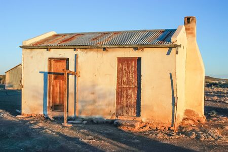 northern cape: An old farm worker house on a farm near Kenhardt in the Northern Cape Province of South Africa