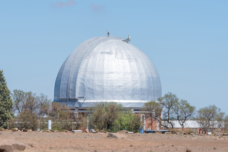 december 21: BLOEMFONTEIN, SOUTH AFRICA, DECEMBER 21, 2015: The dome of the historic LamontHussey Observatory building on Naval hill, now a digital planetarium Editorial