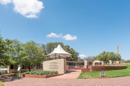 boer: BLOEMFONTEIN, SOUTH AFRICA, JANUARY 26, 2016: Garden of rememberance at the Womens Memorial to commemorate the women and children who died in the Anglo Boer War 1899 to 1902 Editorial
