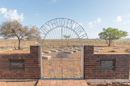 boer: SPRINGFONTEIN, SOUTH AFRICA - FEBRUARY 16, 2016: The graveyard of the un-baptised children who died during the second Boer War in the concentration camp in Springfontein in the Southern Free State Province of South Africa Editorial