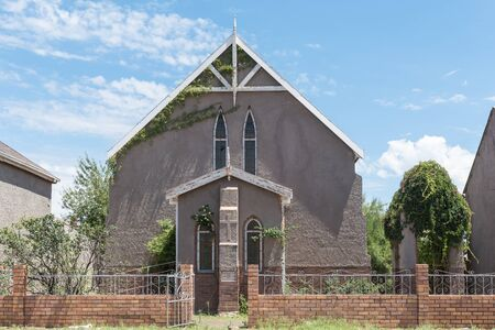 methodist: STEYNSBURG, SOUTH AFRICA - FEBRUARY 16, 2016: The historic Wesleyan Methodist Church in Steynsburg, a small town in the Eastern Cape Province