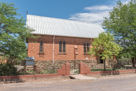 anglican: STEYNSBURG, SOUTH AFRICA - FEBRUARY 16, 2016: The Anglican Church in Steynsburg, a small town in the Eastern Cape Province Editorial
