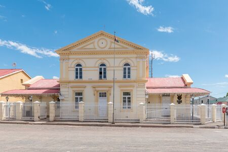magistrates: HOFMEYER, SOUTH AFRICA - FEBRUARY 16, 2016: The Magistrates Office in Hofmeyer, a small town in the Eastern Cape Province