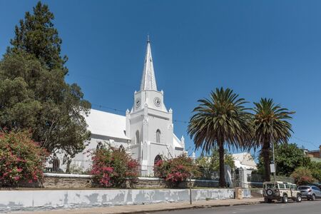somerset: SOMERSET EAST, SOUTH AFRICA - FEBRUARY 19, 2016: The cornerstone of the Dutch Reformed Church in Somerset East was laid on 25 Desember 1830
