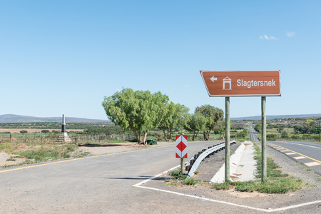SLAGTERSNEK, SOUTH AFRICA - FEBRUARY 19, 2016: Picnic site next to the N10 road at the Slagtersnek Memorial. The leaders of a rebellion against the British Government were hanged here in 1816