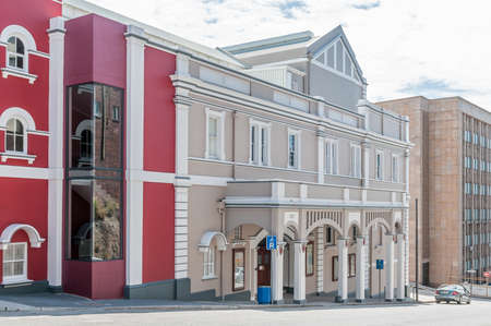 proclaimed: PORT ELIZABETH, SOUTH AFRICA - FEBRUARY 27, 2016: Part of the Opera House and Barn Theatre. The original section was opened in 1892 and is a proclaimed national monument