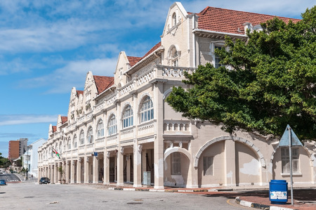 king edward: PORT ELIZABETH, SOUTH AFRICA - FEBRUARY 27, 2016: The historic King Edward Hotel near the Donkin memorial, built in 1903 Editorial