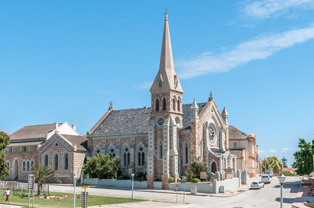 consecrated: PORT ELIZABETH, SOUTH AFRICA - FEBRUARY 27, 2016: The Hill Presbyterian Church at the corner of Belmont and Alfred Terrace was consecrated in 1865