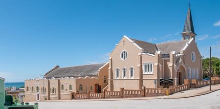 north end: PORT ELIZABETH, SOUTH AFRICA - FEBRUARY 27, 2016:  The Dutch Reformed Church Port Elizabeth in North End was inaugurated on 31 Desember 1909
