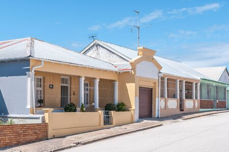 north end: PORT ELIZABETH, SOUTH AFRICA - FEBRUARY 27, 2016:  A view of historic houses in Kirkwood Street in North End, dating from 1930