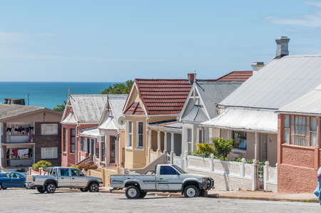 north end: PORT ELIZABETH, SOUTH AFRICA - FEBRUARY 27, 2016: Historic old houses in North End dating from early 19th century