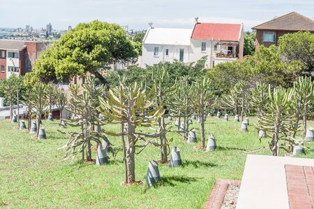 deceased: PORT ELIZABETH, SOUTH AFRICA - FEBRUARY 27, 2016: The Garden of Remembrance in the Donkin Reserve for deceased Councillrs who diligently served the Nelson Mandela Bay Council from 1994