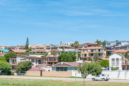 town houses: JEFFREYS BAY, SOUTH AFRICA - FEBRUARY 28, 2016:  A street scene showing a residential suburb in Jeffreys Bay in the Eastern Cape Province of South Africa Editorial
