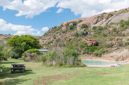 The swimming pool at the main camp in the Mountain Zebra National Park near Cradock