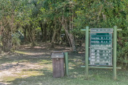 natures: NATURES VALLEY, SOUTH AFRICA - MARCH 2, 2016: Camping sites at the De Vaselot Rest Camp near the town of Natures Valley