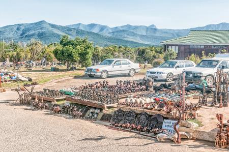 curios: BLOUKRANS BRIDGE, SOUTH AFRICA - MARCH 2, 2016: Curios for sale at the viewpoint of the Bloukrans Bridge