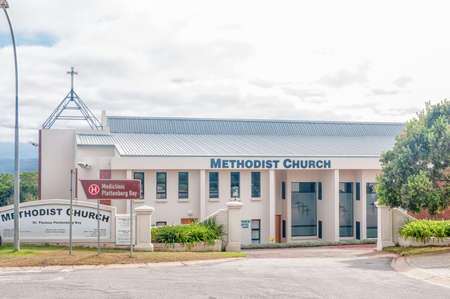 methodist: PLETTENBERG BAY, SOUTH AFRICA - MARCH 3, 2016: The Methodist Church in Plettenberg Bay, a town on the Garden Route Editorial