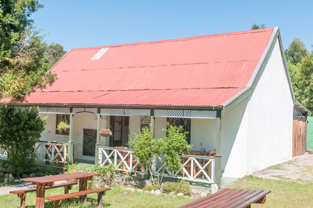 nature conservancy: MILLWOOD, SOUTH AFRICA - MARCH 4, 2016: The historic Mother Hollys Tea Garden and museum in the Millwood section of the Garden Route National Park