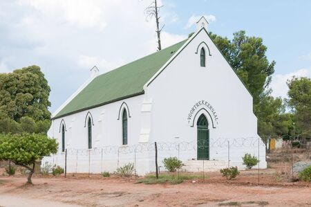 previously: UNIONDALE, SOUTH AFRICA - MARCH 5, 2016: The Voortrekker Hall, previously the first building of the Dutch Reformed Church Uniondale, inaugurated on 14 November 1862 Editorial