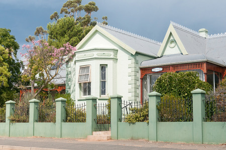 oldage: UNIONDALE, SOUTH AFRICA - MARCH 5, 2016: A  private old-age home in a historic old building in Uniondale