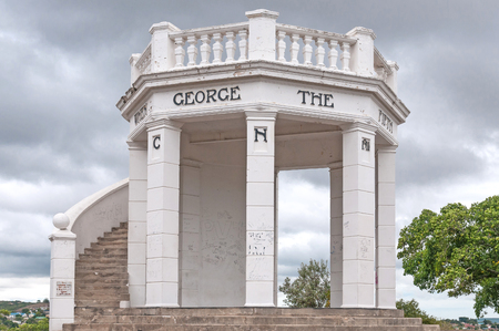 mandela: UITENHAGE, SOUTH AFRICA - MARCH 7, 2016: The King George V memorial at the top of Canonhill in Uitenhage, an industrial town in the Nelson Mandela Bay Metropolitan Municipality in the Eastern Cape