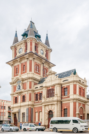 mandela: UITENHAGE, SOUTH AFRICA - MARCH 7, 2016: The Victoria Tower was built during 1896-1898 and used as government offices. Uitenhage is an industrial town in the Nelson Mandela Bay Metropolitan Municipality
