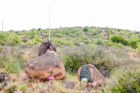 boer: GRAAFF REINET, SOUTH AFRICA - MARCH 7, 2016: A monument for Gideon Scheepers, a Boer commander in the Second Anglo-Boer War, who was executed by the British troops near this spot Editorial