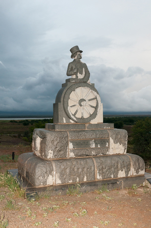nature conservancy: GRAAFF REINET, SOUTH AFRICA - MARCH 7, 2016: The monument in honour of Voortrekker leader Andries Pretorius was inaugurated in November 1943. It is situated in the Camdeboo National Park Editorial