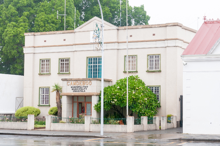 incorporates: GRAAFF REINET, SOUTH AFRICA - MARCH 8, 2016: The offices of the Camdeboo Municipality which incorporates the towns of Graaff-Reinet, Aberdeen and Nieu-Bethesda