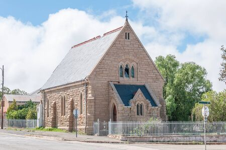 northern african: NOUPOORT, SOUTH AFRICA - MARCH 8, 2016: The historic old St Andrews Presbyterian Church, built circa 1903, now a museum