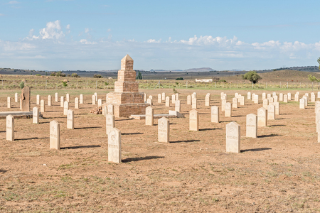 boer: The war cemetery with graves of 299 British soldiers who died in hospital and 663 Boers who died in the concentration camp in the Second Boer War 1899-1902 Editorial