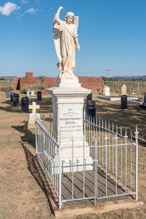 boer: SPRINGFONTEIN, SOUTH AFRICA - FEBRUARY 16, 2016: The cemetery with graves of 299 British soldiers who died in hospital and 663 Boers who died in the concentration camp in the Second Boer War 1899-1902
