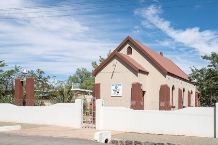 KOFFIEFONTEIN, SOUTH AFRICA - DECEMBER 24, 2016: The Apostolic Faith Mission Church in Koffiefontein (coffee fountain), a diamond mining town in the Free State Province Editorial