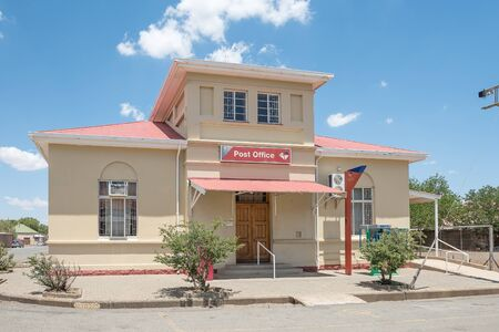 JAGERSFONTEIN, SOUTH AFRICA - DECEMBER 31, 2016: The Post Office building in Jagersfontein, a diamond mining town in the Free State Province of South Africa Editorial