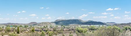 dumps: Panorama of part of the diamond mine and mine dumps. Two famous diamonds, the Excelsior and Jubilee, were mined here Stock Photo