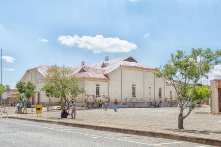 JAGERSFONTEIN, SOUTH AFRICA - DECEMBER 31, 2016: The town hall in Jagersfontein, a diamond mining town in the Free State Province of South Africa