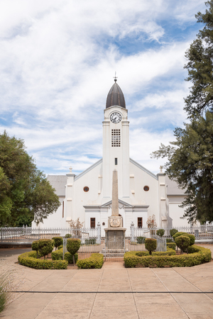 JACOBSDAL, SOUTH AFRICA - DECEMBER 24, 2016: The Dutch Reformed Church in Jacobsdal, a small town in the Free State Province. Editorial