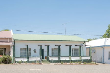 FAURESMITH, SOUTH AFRICA - DECEMBER 31, 2016: A typical old house in Fauresmith, a small town in the Free State Province