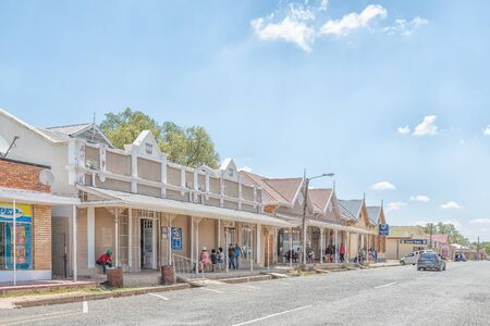 JAGERSFONTEIN, SOUTH AFRICA - DECEMBER 31, 2016: A street scene in Jagersfontein, a diamond mining town in the Free State Province of South Africa