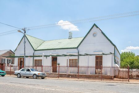 FAURESMITH, SOUTH AFRICA - DECEMBER 31, 2016: An historic old house, built in 1875, in Fauresmith, a small town in the Free State Province of South Africa