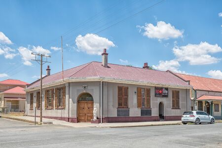 JAGERSFONTEIN, SOUTH AFRICA - DECEMBER 31, 2016: An historic old building in Jagersfontein, a diamond mining town in the Free State Province of South Africa