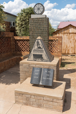 NOUPOORT, SOUTH AFRICA - MARCH 21, 2017: The Voortrekker centenary monument in Trompsburg, Noupoort, a small town in the Northern Cape Province Editorial