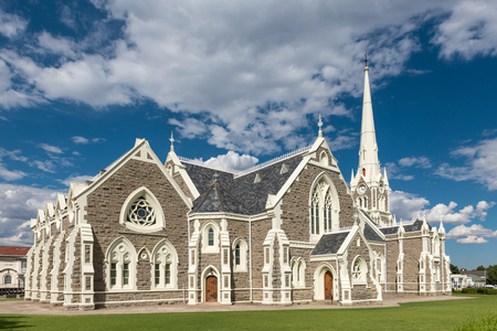 GRAAFF REINET, SOUTH AFRICA - MARCH 22, 2017: The Dutch Reformed Church, built 1885-1887, is one of more than 200 buildings in the town declared as a national monument in Graaff Reinet