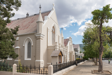 GRAAFF REINET, SOUTH AFRICA - MARCH 22, 2017: The Trinity Methodist Church, hall and rectory in Graaff Reinet in the Eastern Cape Province