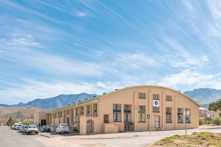 ROBERTSON, SOUTH AFRICA - MARCH 26, 2017: The Apostolic Faith Mission Church in Robertson, a town on the scenic Route 62 in the Western Cape Province
