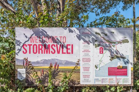 STORMSVLEI, SOUTH AFRICA - MARCH 26, 2017: An information board at Stormsvlei, a hamlet in the Western Cape Province Editorial