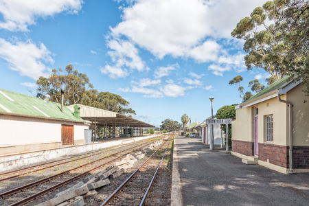 BOTRIVIER, SOUTH AFRICA - MARCH 27, 2017: The Railway station at Botrivier, a small town in the Western Cape Province Editorial