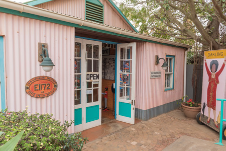 DARLING, SOUTH AFRICA - MARCH 31, 2017: The restaurant and cabaret theatre at Evita se Perron in Darling, a town in the Swartland area of the Western Cape Province